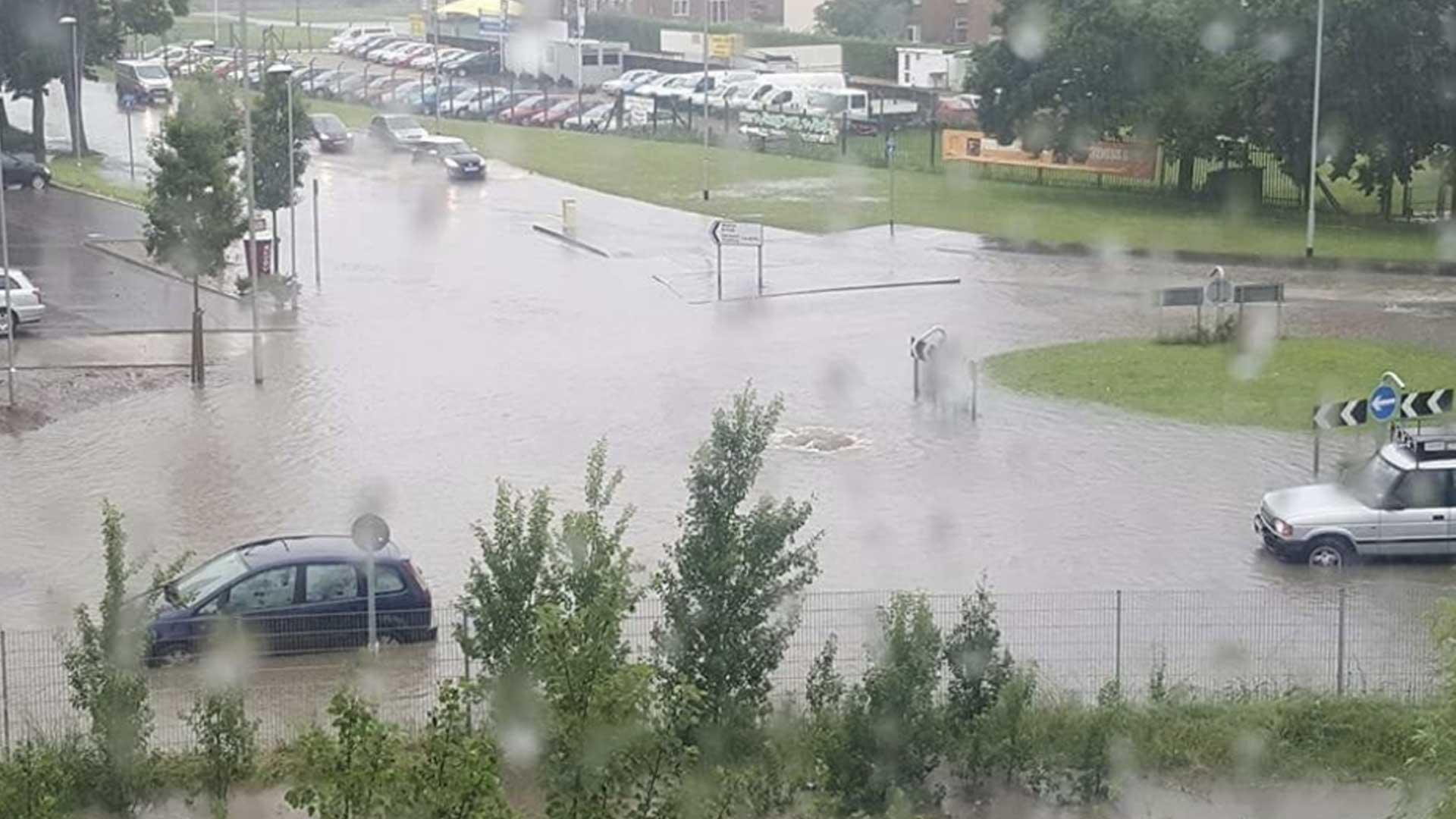 Norwich Road flooding Watton Saham