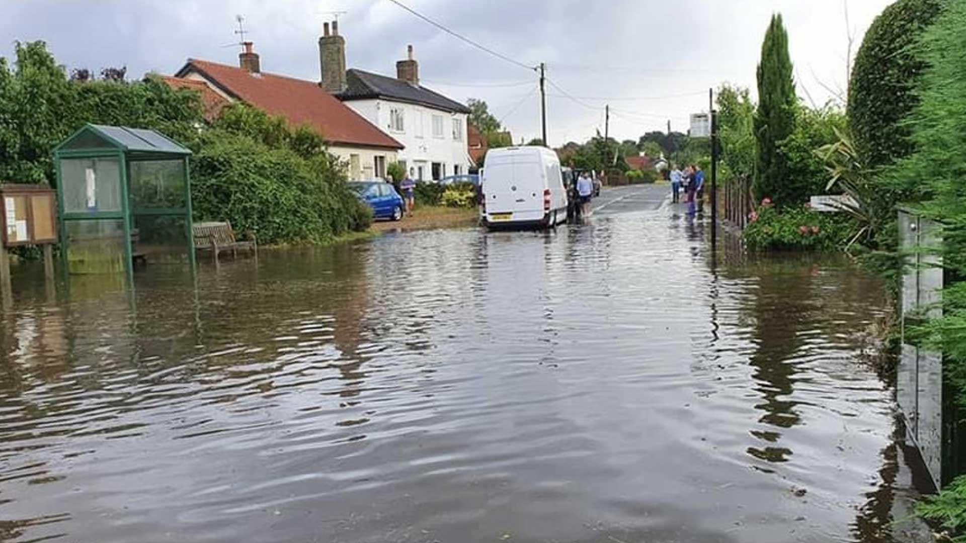 Richmond road flooding Watton Saham